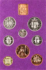Sale 8299C - Lot 522 - THE COINAGE OF GREAT BRITAIN AND NORTHER IRELAND ; 8 coin proof set 1970 in original envelope of issue.