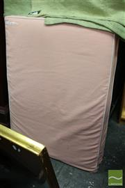 Sale 8465 - Lot 1614 - Pair of Single Bed Headboards with Pink Upholstery