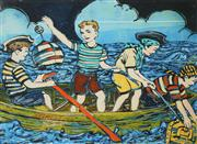 Sale 8545A - Lot 5024 - David Bromley (1960 - ) - 4 Young Pirates 54 x 74cm