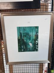 Sale 8563T - Lot 2193 - Australian School Egret Framed Oil on Board; from a collection of his signed & unsigned works