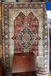 Sale 8566 - Lot 1333 - Persian Silk Blend Rug (225 x 150)