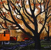 Sale 8693A - Lot 5045 - A D (Tony) North - Autumn in Canberra 40 x 40cm
