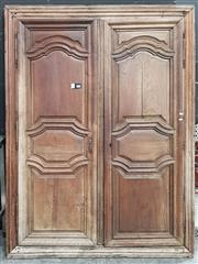 Sale 8769 - Lot 1008 - Pair of French Timber Doors with Frame