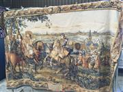 Sale 8782 - Lot 1736 - Flemisch Tapestry of Louis XIV Lillie (210 x 140cm)