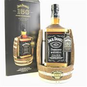 Sale 8830W - Lot 47 - Jack Daniels 150th Anniversary Tennessee Whiskey Large-Format Bottle on Cradle with Leather Tags - bottle no. 117, 40% ABV, 1750ml