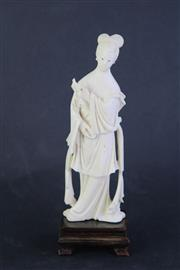 Sale 8815C - Lot 96 - Carved Ivory Figure Of A Woman H:20cm (AF)