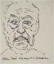 Sale 8908A - Lot 5041 - Desiderius Orban (1884 - 1986) - Self Portrait, 1964 22 x 20 cm