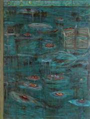 Sale 8914 - Lot 2010 - Artist Unknown  Lily Pond 1993 acrylic, 91 x 122cm, signed Briant verso -