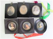 Sale 8931B - Lot 687 - Small Group Of Miniature Prints In Frames