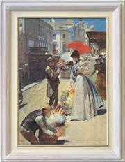 Sale 8964 - Lot 2060 - After Tom Roberts Christmas flowers and Christmas belles, c1899giclee, 105 x 79cm (frame)