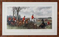 Sale 9080H - Lot 27 - After J F Herring The Run In  Hand coloured engraving of Foress National Sports, Plate III engraved by J Harris mounted in a burr...