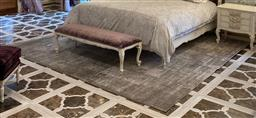 Sale 9140W - Lot 45 - A large Designer Rugs Urban Wool and bamboo hand knotted carpet. RRP $7,146 320 x 350cm