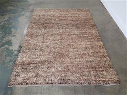 Sale 9255 - Lot 1272 - Unique handknotted pure sheep wool Afghan shaggy (300cm x 200cm)