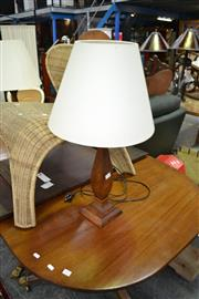 Sale 8019 - Lot 1088 - Pair of Timber Framed Lamps