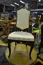 Sale 8134 - Lot 1028 - Black Hand Painted Dining Chair
