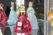 Sale 8360 - Lot 2 - Royal Worcester Sweet Anne Together with a Grandmothers Dress Figure