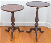 Sale 8470H - Lot 310 - Two similar Georgian style occasional tables, taller H 57cm