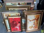 Sale 8474 - Lot 2054 - Group of (8) Assorted Original Painting by Various Artists, Landscape Scenes, each framed, each signed lower, various sizes