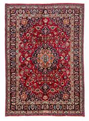 Sale 8800C - Lot 66 - A Persian Kashan From Isfahan Region 100% Wool Pile On Cotton Foundation, 190 x 280cm