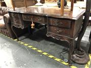 Sale 8854 - Lot 1019 - Carved Front Five Drawer Dressing Table