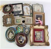 Sale 8931B - Lot 688 - Large Collection Of Miniature Prints In Frames