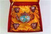 Sale 8940T - Lot 673 - Enamelled Chinese teaset in box