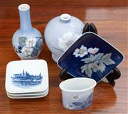 Sale 9055H - Lot 81 - A group of Royal Copenhagen wares including bottle vases and pin dishes. Height of tallest: 14cm.
