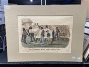 Sale 9058 - Lot 2067 - T Worth, The Sports Who Lost Their Tin, hand-coloured lithograph, mounted: 41 x 56 cm, signed lower right