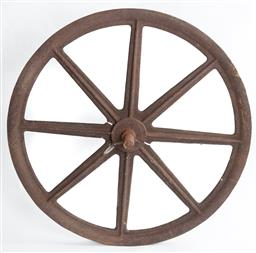 Sale 9151 - Lot 1471 - An antique cast iron mill pulley wheel, Diameter 121cm
