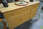 Sale 8260 - Lot 1066 - Quality 1960s Blonde Ercol Sideboard