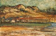 Sale 8616 - Lot 532 - George Feather Lawrence (1901 - 1981) - River Flats, 1966 39 x 59.5cm