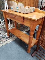 Sale 8676 - Lot 1066 - Tiered Timber Hall Table with Single Drawer