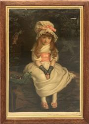 Sale 8699 - Lot 2097 - C19th Chromolithograph - Cherry Ripe, 84 x 60.5cm (frame size)