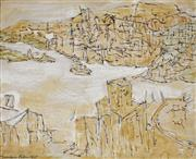 Sale 8867A - Lot 5065 - Desiderius Orban (1884 - 1986) - Untitled (Harbour Scene), 1975 44 x 54 cm