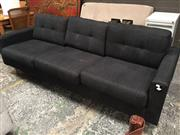 Sale 8889 - Lot 1437 - Fabric 3 Seater Lounge in Charcoal