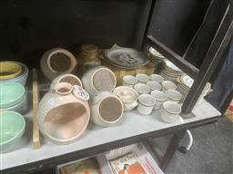 Sale 9106 - Lot 2457 - Mountain Wood Dinnerwares, & Pottery Storage Containers