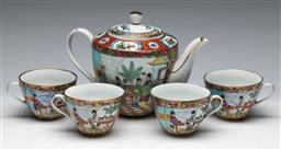 Sale 9153 - Lot 66 - A Famille Rose Chinese tea suite for four