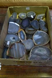 Sale 8031 - Lot 1048 - Box Polished Agates