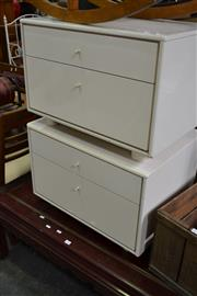 Sale 8115 - Lot 1284 - Pair of Side Tables w 2 Drawers