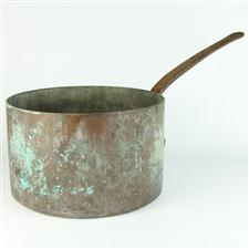 Sale 8351A - Lot 20 - Large French Copper Pot diameter 36cm depth 22cm(approx weight 15kg)