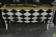 Sale 8361 - Lot 1004 - Chequered Pattern French Style Sideboard