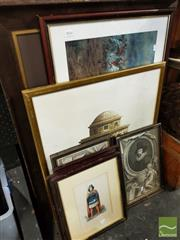 Sale 8474 - Lot 2066 - Group of (8) Assorted Engravings and Prints, each framed, various sizes