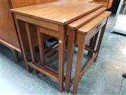 Sale 8839 - Lot 1058 - G-Plan Teak Nest of Three Tables with Drawer