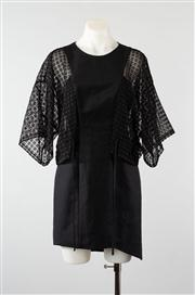 Sale 8740F - Lot 110 - A Sass and Bide The Cubist A-line dress with mesh overlay sleeves, size 8