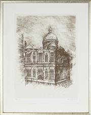 Sale 8870 - Lot 2073 - Allan Gamble (1907 - 2001) - Queen Victoria Building, Sydney, 1986 55 x 42cm
