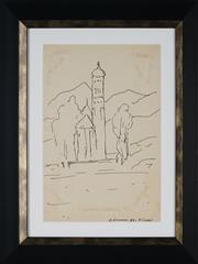 Sale 8908A - Lot 5023 - Desiderius Orban (1884 - 1986) - St Kolomans Church, Fussen 30.5 x 21 cm
