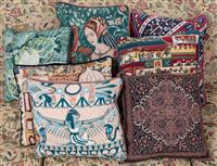 Sale 8963H - Lot 69 - A collection of mostly tapestry scatter cushions, common size 35cm x 43cm