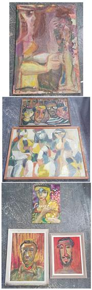Sale 9053 - Lot 2081 - Artist Unknown (7 works), oil paintings of various subjects mostly portraits. various sizes