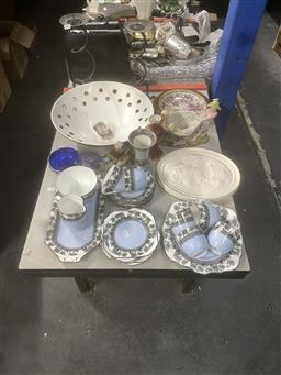 Sale 9106 - Lot 2440 - Sundries incl. Foley China Tea Wares, Plaque, Vases, Bowl, Candle Holders, etc