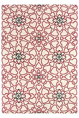 Sale 9185C - Lot 22 - NEPAL REPEATED HEARTS,179X261CM, HANDKNOTTED WOOL